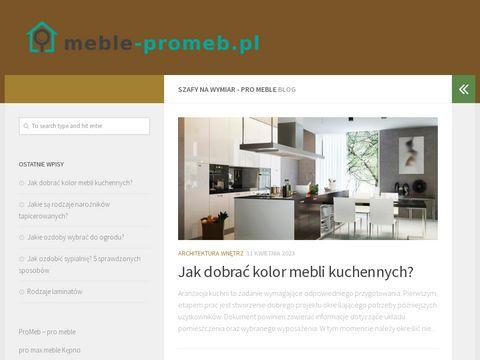 Meble-promeb.pl z Krakowa - na wymiar