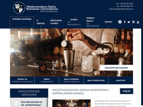 Msbis.com ogólnopolska szkoła barmanów