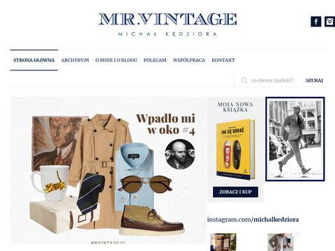Mrvintage.pl moda męska blog