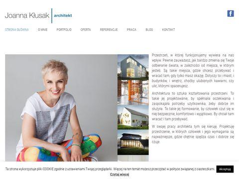 Joannaklusak.com projekty wnętrz