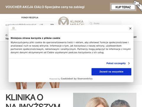 Klinikamiracki.pl zabiegi laserowe Warszawa