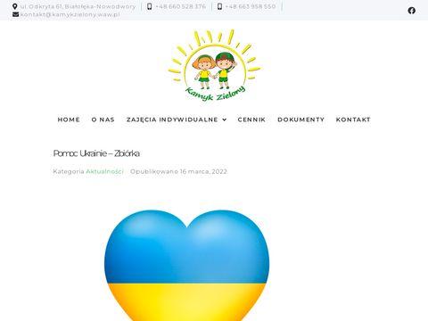Kamykzielony.waw.pl przedszkole terapeutyczne