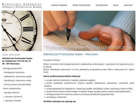 Kancelaria-kopko.pl adwokat Przemysław Kopko