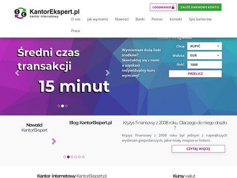 KantorEkspert.pl - wymiana walut online