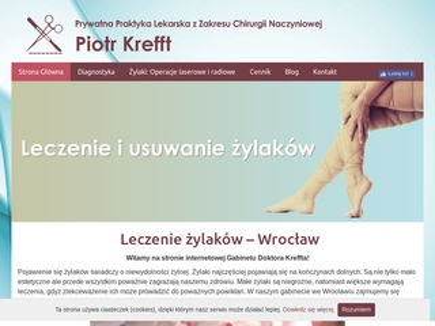 P. Krefft usuwanie żylaków