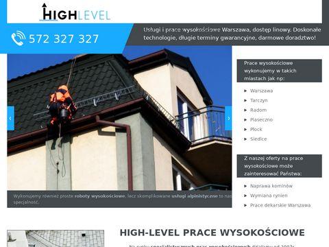 High-level.com.pl prace wysokościowe