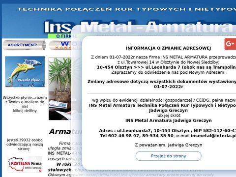 Ins Metal rury żeliwne kanalizacyjne