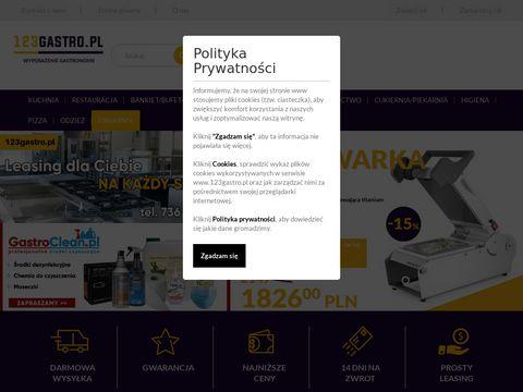 123gastro.pl wyposażenie gastronomii